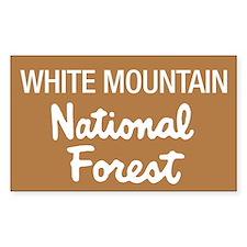 White Mountain (Sign) Nationa Sticker (Rectangular