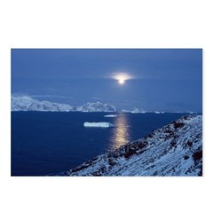 Moon Rise Antarctica Postcards (Package of 8)