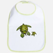 I Swim with Sea Turtles Bib