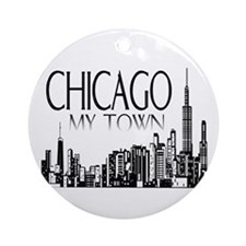 Chicago Christmas Ornaments Ornament (Round)