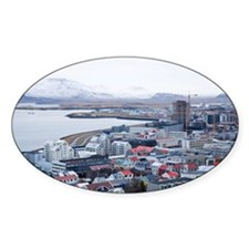 Elevated view of Reykjavik, Iceland Decal