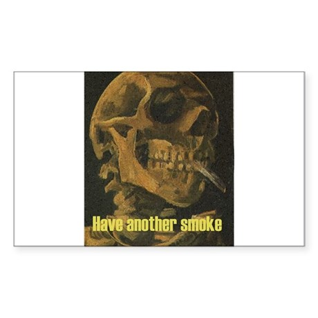 Anti Tobacco Apparel and Items Sticker (Rectangula