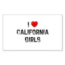 I * California Girls Rectangle Decal