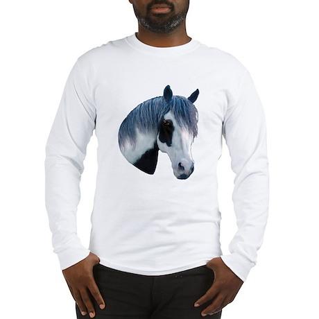 Paint Horse Portrait Long Sleeve T-Shirt