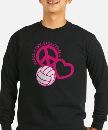 peace love volleyball, melon top, roughage T