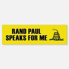 Rand Paul Speaks For Me Bumper Bumper Bumper Sticker