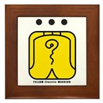 YELLOW Electric WARRIOR Framed Tile