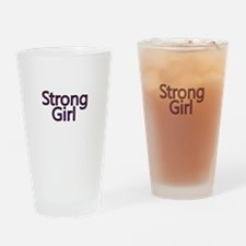 Strong Girl-Pink Drinking Glass
