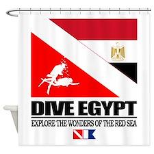 Dive Egypt Shower Curtain