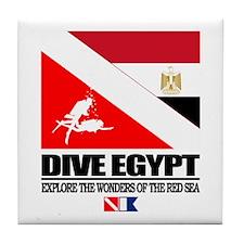 Dive Egypt Tile Coaster