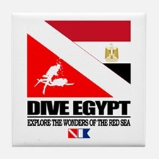 Dive Egypt Tile Coaster
