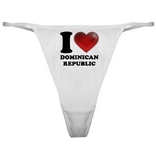 I Heart Dominican Republic Classic Thong