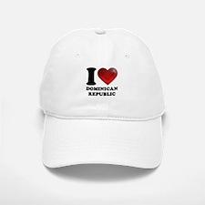 I Heart Dominican Republic Baseball Baseball Baseball Cap