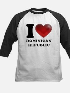 I Heart Dominican Republic Baseball Jersey