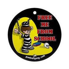 Free Me From School Ornament (Round)