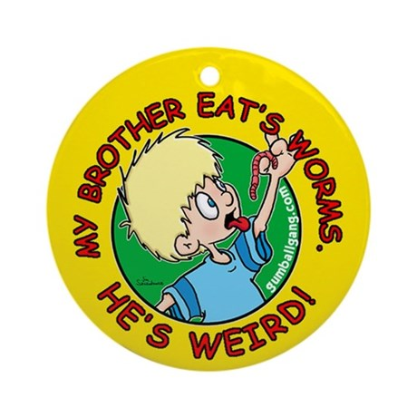 Eat Worms Ornament (Round)