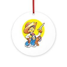 Cowboy Ornament (Round)