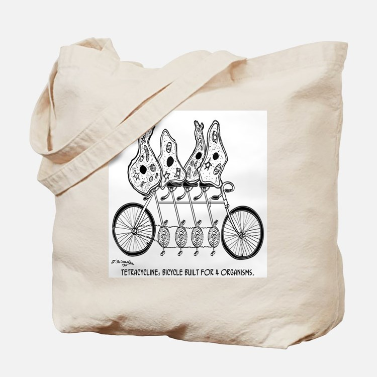 Tetracycline: Bike Built For Four Tote Bag