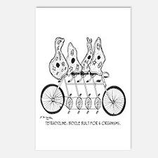 Tetracycline: Bike Built For Four Postcards (Packa