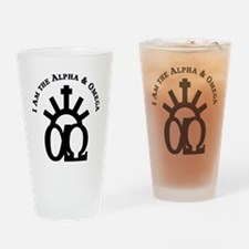 The Alpha & Omega Drinking Glass