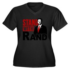 Stand With Rand Women's Plus Size V-Neck Dark T-Sh