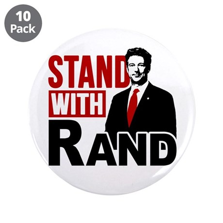 """Stand With Rand 3.5"""" Button (10 pack)"""