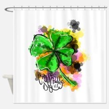Happy St Paddy's Day Shower Curtain