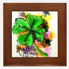 Happy St Paddy's Day Framed Tile