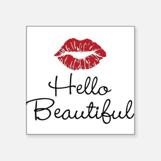 Hello Beautiful Red Lips Sticker