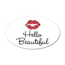 Hello Beautiful Red Lips Wall Decal