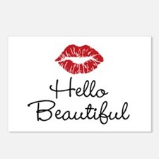 Hello Beautiful Red Lips Postcards (Package of 8)