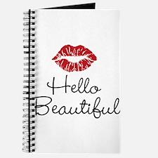 Hello Beautiful Red Lips Journal