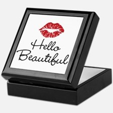 Hello Beautiful Red Lips Keepsake Box