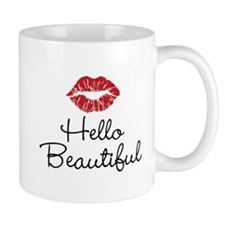 Hello Beautiful Red Lips Mug