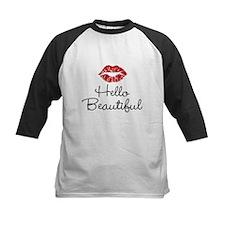 Hello Beautiful Red Lips Baseball Jersey