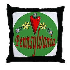 Love Pennsylvania Throw Pillow