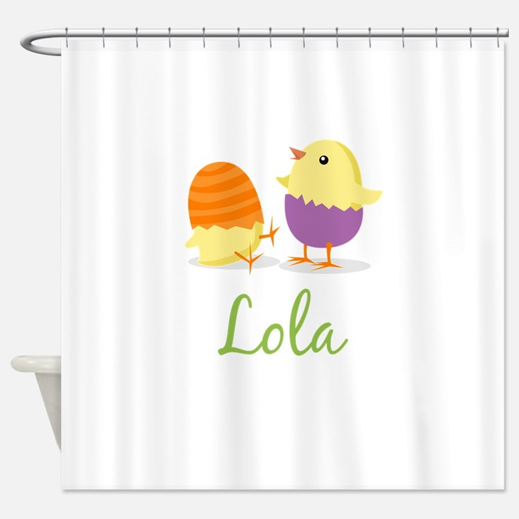 Easter Chick Lola Shower Curtain