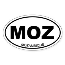 Mozambique Oval Decal