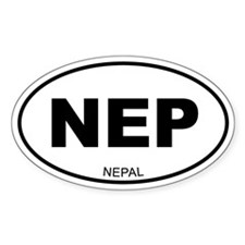 Nepal Oval Decal