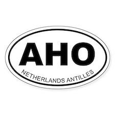 Netherlands Antilles Oval Decal