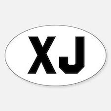 Funny Xj Sticker (Oval)