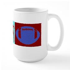 Painted Football Triptych Mug