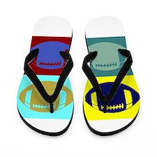 FOOTBALL QUAD Flip Flops