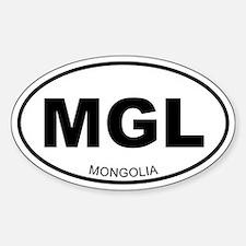 Mongolia Oval Decal