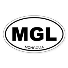 Mongolia Oval Stickers