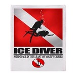 Ice Diver 2 Throw Blanket