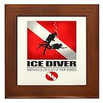 Ice Diver 2 Framed Tile