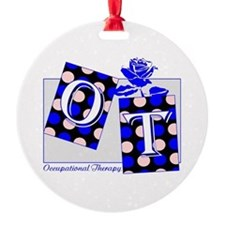 ot puzzle aqua Ornament
