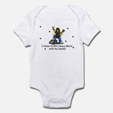 I listen to Heavy Metal with Dad Infant Bodysuit