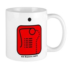 RED Magnetic EARTH Mug